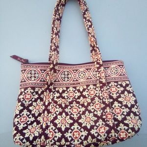 Vera Bradley brown/pink floral purse